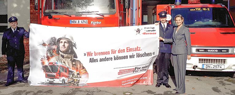 """""""Ohne unsere Feuerwehr wird's brandgefährlich"""""""