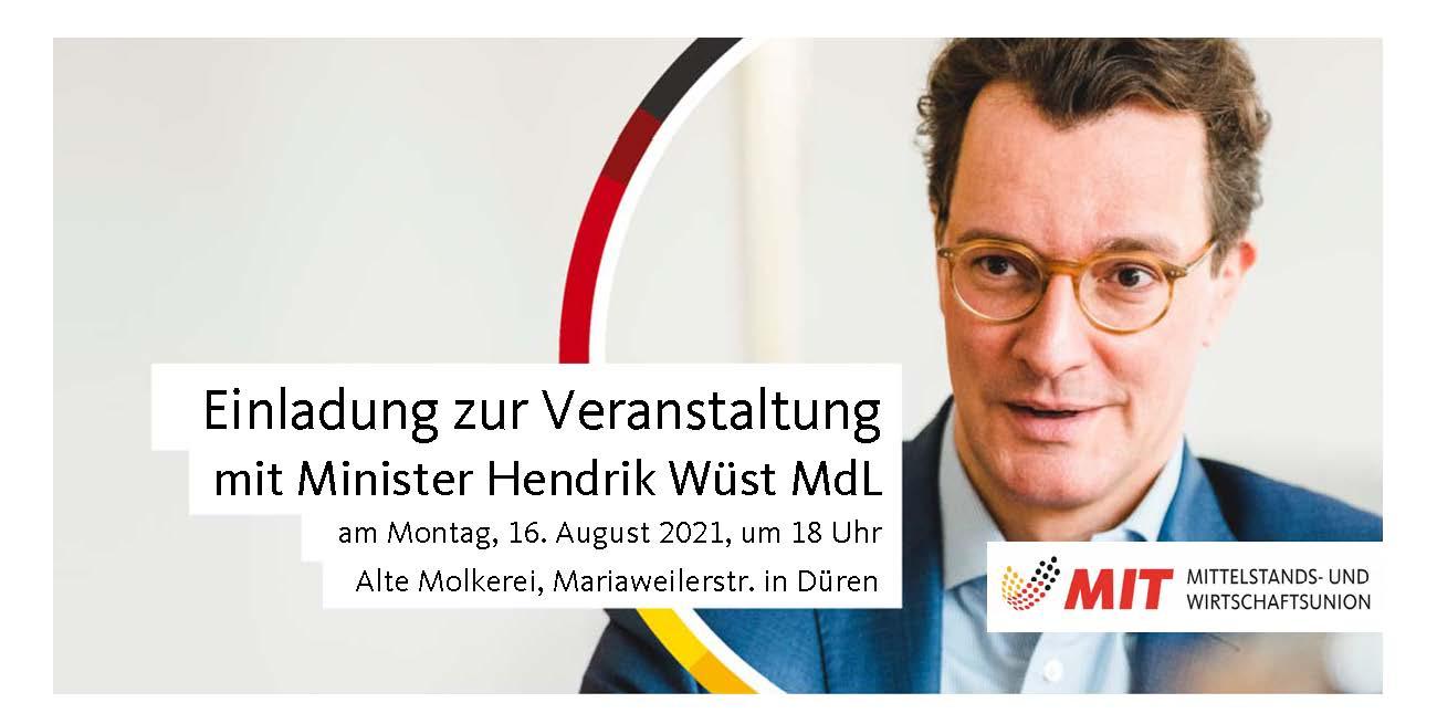 Veranstaltung mit Verkehrsminister Hendrik Wüst MdL