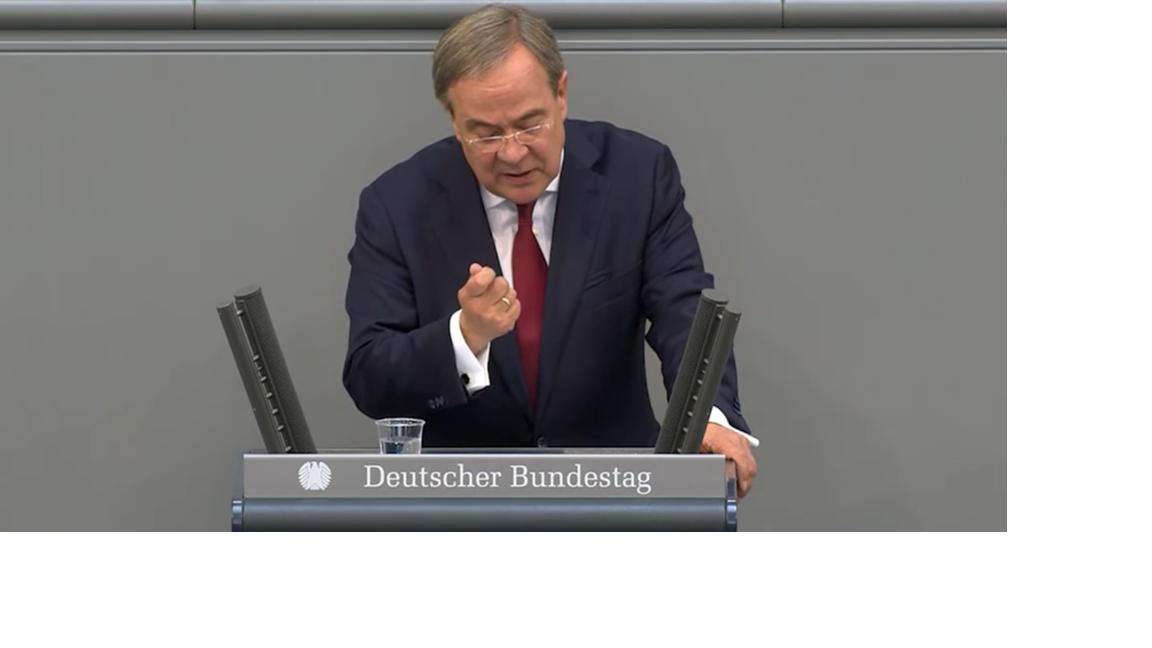 Klare Statements von Armin Laschet im  Deutschen Bundestag.